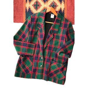 •Vintage • checkered oversized blazer. Size 14